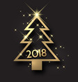 golden 2018 new year card vector image vector image