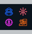 group headhunting and networking icons job vector image