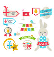 happy easter sale set template vector image vector image