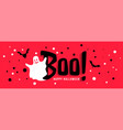 happy halloween celebration banner with white vector image