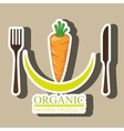 healthy vegetarian food label isolated icon design vector image vector image