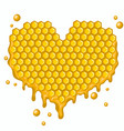 heart honeycombs graphics isolated on vector image