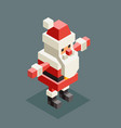 hug santa claus isometric grandfather christmas vector image vector image