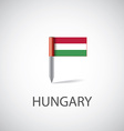 hungary flag pin vector image