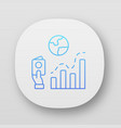 immigration rate app icon business analysis vector image
