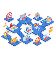 internet blocking isometric composition vector image
