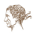 julius caesar roman politician and general vector image