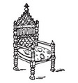 king davids arm chair vintage vector image vector image