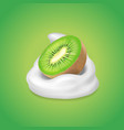 kiwi fruit and yogurt fruit and yogurt realistic vector image vector image