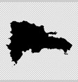 map dominican republic isolated vector image vector image