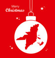merry christmas theme with map of miami florida vector image vector image