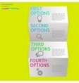 Modern business step folded paper style options vector image