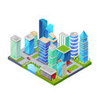 modern downtown isometric 3d icon vector image