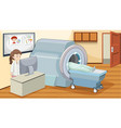 mri scan at hospital vector image
