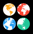 multi-colored earth continents vector image vector image