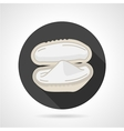 Mussel black round icon vector image