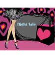 night shopping card vector image