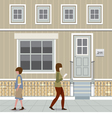 People Walking Down The Street vector image vector image
