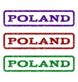 poland watermark stamp vector image