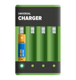 powerful universal charger isolated vector image