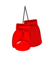 red boxing gloves isolated sports accessories on vector image vector image
