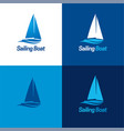 sailing boat logo and icon vector image