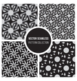 Seamless Black and White Pattern Collection vector image vector image