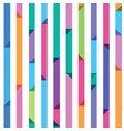 seamless pattern from color strips with triangles vector image vector image
