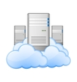Servers and Clouds vector image