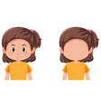 set of brunette girl character vector image vector image