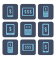 set of icons - mobile devices with dollar symbols vector image vector image