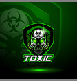 skull esport mascot logo design vector image vector image