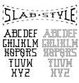 slab style alphabet vector image vector image