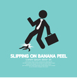 Slipping On Banana Peel vector image vector image