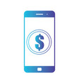 smartphone banking dollar icon mobile payment vector image