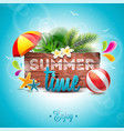 summer time party holidays invitation flyer poster vector image
