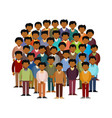 swarthy men community concept in flat style vector image vector image