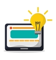 technology web page idea creativity vector image vector image