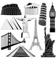 travel over the world vector image