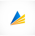 triangle business finance logo vector image