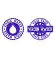 virgin water grunge stamp seals vector image vector image