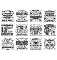 weapon guns paintball and hunting icons vector image