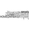 what will be service needed by homeowners text vector image vector image