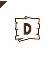 wooden alphabet or font blocks with letter d vector image vector image