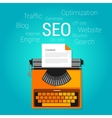 seo content marketing strategy concept search vector image