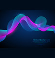 abstract digital wave particles futuristic hud vector image vector image