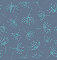 abstract floral seamless background blue vector image vector image