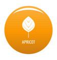 apricot leaf icon orange vector image