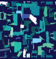 Artisan seamless pattern with abstract shapes and vector image