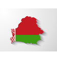 Belarus map with shadow effect vector image vector image